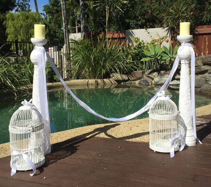 Candlesticks with Birdcages
